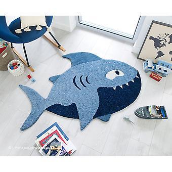 Zest Kids Shark sininen matto