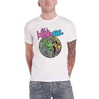 Blink 182 T Paita Overboard Event Band Logo uusi Virallinen Mens Valkoinen