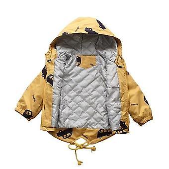 Téli kabátok vastag meleg catoon autók kapucnis kabátok felsőruházat széldzseki