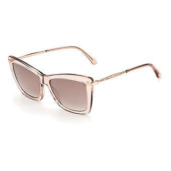 Jimmy Choo SADY/S FWM/NQ Nude/Brown Sm Silver Sunglasses