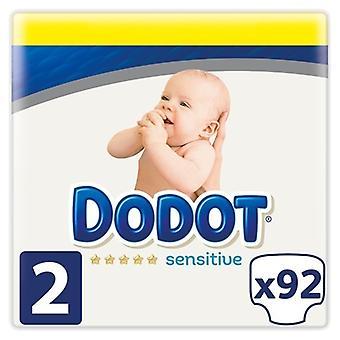 Dodot Sensitive Couche Nouveau né Taille 2 avec 92 Unités