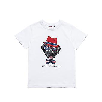 Alouette Boys' T-Shirt With Dog Print
