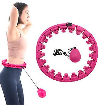 Plastic Detachable Slimming Body Smart Lcd Counting Digital Hu La Hoops Weighted Hula Ring Hoop For Fitness Training