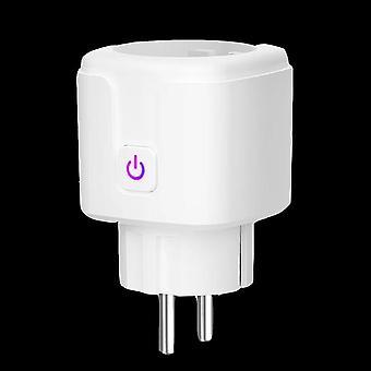 Wifi Smart Plug Eu Adaptor Wireless Remote Voice Control Power Energy Monitor