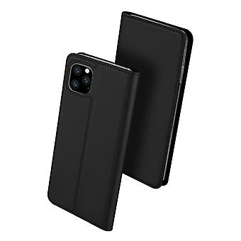 Dla iPhone 11 pro przypadku odporne anty spadek klapka klapa okładka czarny