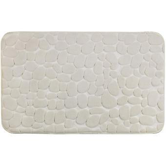 guijarros de remolque de baño 80 x 50 cm beige de poliéster