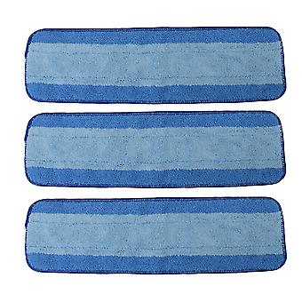 3 x Blue Microfiber Reusable Mop Pads Replacement for Bona Cleaning Pads