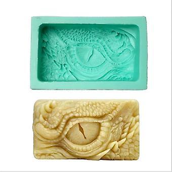 Dragon Eye Silicone Molde jabón hecho a mano DIY hacer molde molde moldes moldes moldes moldes de jabón (verde)