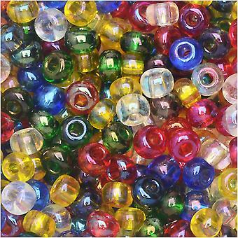 Tšekin lasiset siemenet, 6/0 pyöreä, 24 gramman putki, kosminen AB-sekoitus