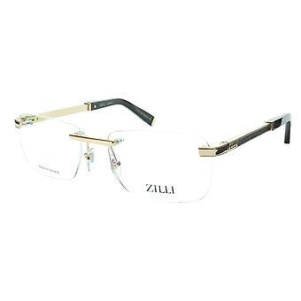 ZILLI glasögon Ram Titanacetat Svart Guld Frankrike Tillverkad ZI 60034 C04