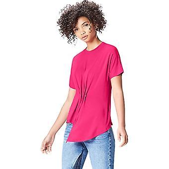 Amazon brand - find. Women's Crew neck T-shirt, Pink, 44, Label: M