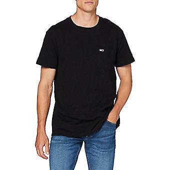 Tommy Jeans Tjm Texture Camiseta Camiseta, Negro, M Hombre