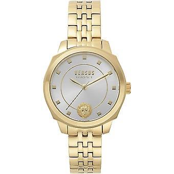 Versace VS510618 女性のゴールドトーンスチールブレスレット腕時計