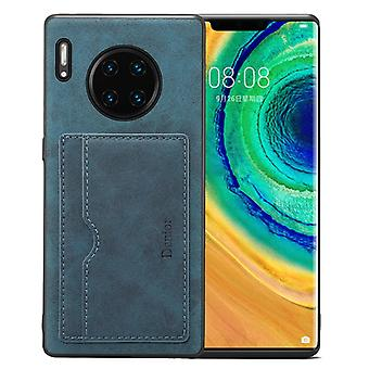 Wallet leather case card slot for iphone xs max retro blue on177