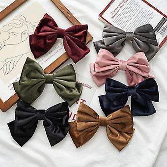 7Pcs hair ties style flannelette bow hairpin hair accessories