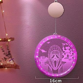3d مصباح معلق مع مصاصة كأس نافذة هالوين الحزب الديكور