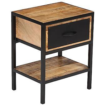 vidaXL Nachtkastje Mango Wood Solid 40 x 30 x 50 cm