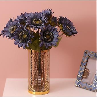 7 stuks kunstmatige zonnebloemen kunstmatige bloemen retro boeket decoratie geel