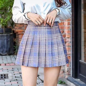 Pleated Plaized Skirt