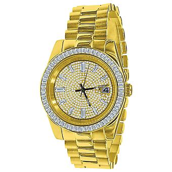 ICED OUT Zirconia Stainless Steel Quartz Watch - gold