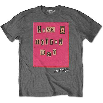 The Sex Pistols - Rotten Day Men's Small T-Shirt - Charcoal Grey
