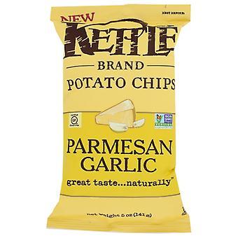 Kettle Foods Chips Kettl Garlic Parm, Case of 15 X 5 Oz