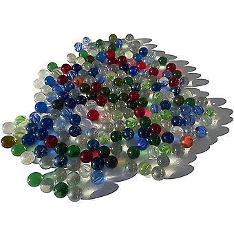 Bunte Glasmurmeln Glaskugeln16mm Durchmesser über 1kg Dekokugeln Murmel Dekoration Glaskügelchen