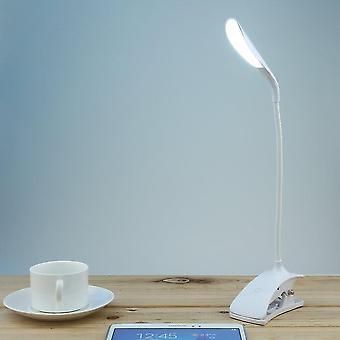 Clip-on Usb Dimmable 600lx Rechargeable Touch Sensor 14 Leds Reading Light