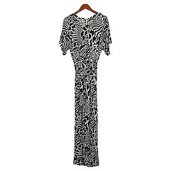 ليزا رينا جمع Jumpsuits قصيرة الأكمام واسعة الساق الأبيض A367831