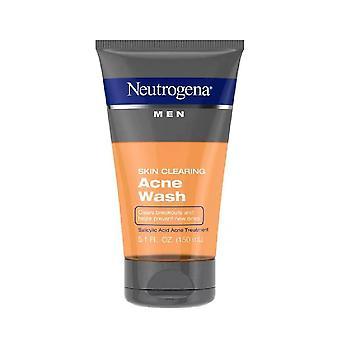 Neutrogena män hud rensa salicylsyra akne ansikte tvätt, 5.1 oz