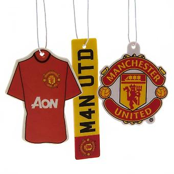 Manchester United FC Air Freshener (Pack of 3)