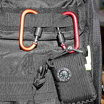 Carabiners paracord 8cm aluminum carabiner chain clip for camping red