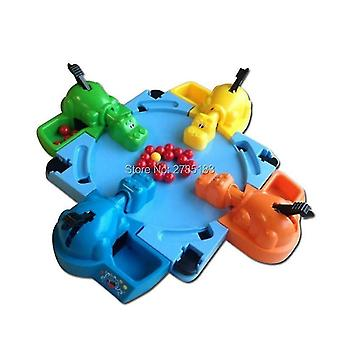 Pretend professions role playing funny hungry hippo swallow beads table game board game educational toys | funny game