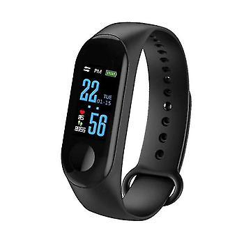 Smart armbånd Vandtæt Sport Armbånd Smart Watch til IOS Android (Sort)