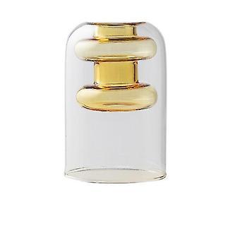 Nordisk design kreativ dubbelmålad glas dekor vaser (Amber)