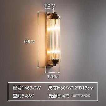 Lampada da parete nordica semplice e moderna in rame per la decorazione del soggiorno / sala da pranzo ha portato e14 lampada da comodino per camera da letto