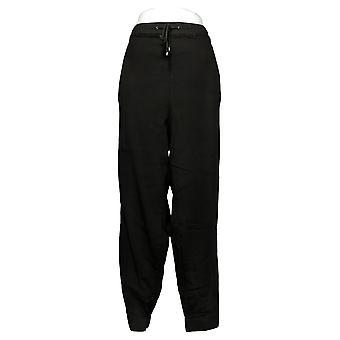 Skinnygirl Women's Plus Pants Pull-On Knit Denim Jogger Black 753683