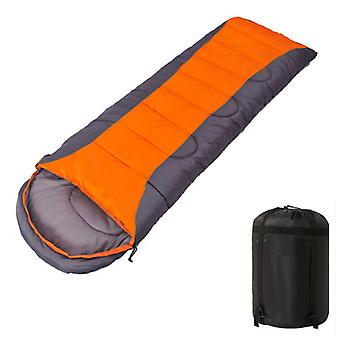 Envelope Sleeping Bag, Lightweight Comfortable Waterproof With Compression Bag, With Zipper, Perfect For 3 Seasons, For Indoor Or Outdoor Use (orange
