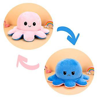 Plushie Octopus Reversible Cute Plush Emotion Mood Toy For Kids Gift
