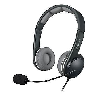 Speedlink Sonid Usb Stereo Headset with Microphone Black/Grey (SL-870002-BKGY)