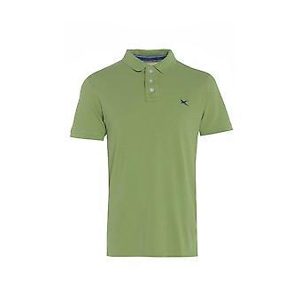 Men's Green Short Sleeve Polo T-Shirt TP558-M