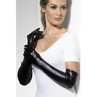 Handschoenen zwart nat kijken dames deluxe