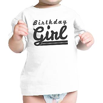 Birthday Girl t-shirt neonato bianco carino primo regalo di compleanno