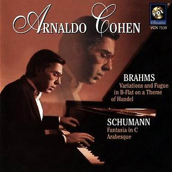 Brahms/Schumann - Brahms: Variations and Fugue in B Flat on a Theme of Handel; Schumann: Fantasia in C; Arabesque [CD] USA import
