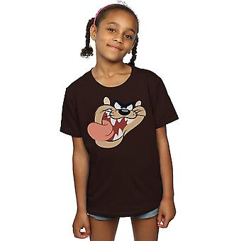 Looney Tunes ragazze diavolo della Tasmania Face t-shirt