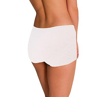 Naomi and Nicole Edgies White Boyshort A106