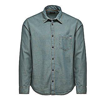 Jack et Jones un Sco Star Medium Blue Denim chemise décontractée