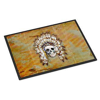 Day of the Dead Indian Skull Indoor or Outdoor Mat 18x27
