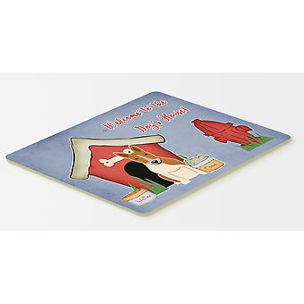 Dog House Collection Bull Terrier Red White Kitchen or Bath Mat 20x30