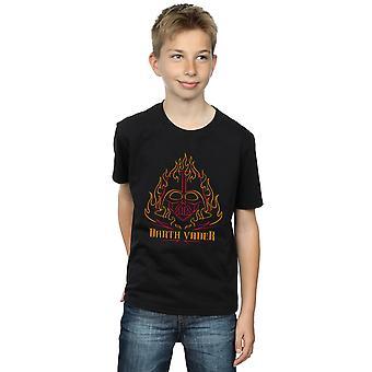 Star Wars jungen Darth Vader Flammen T-Shirt